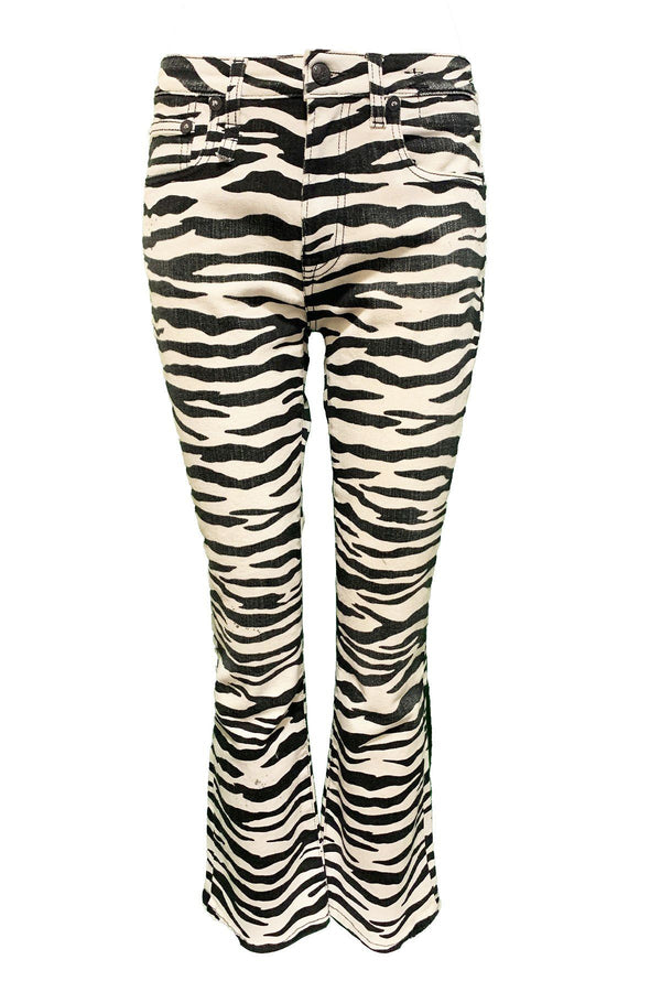 CLOTHING - Kick Fit Jean Zebra Print