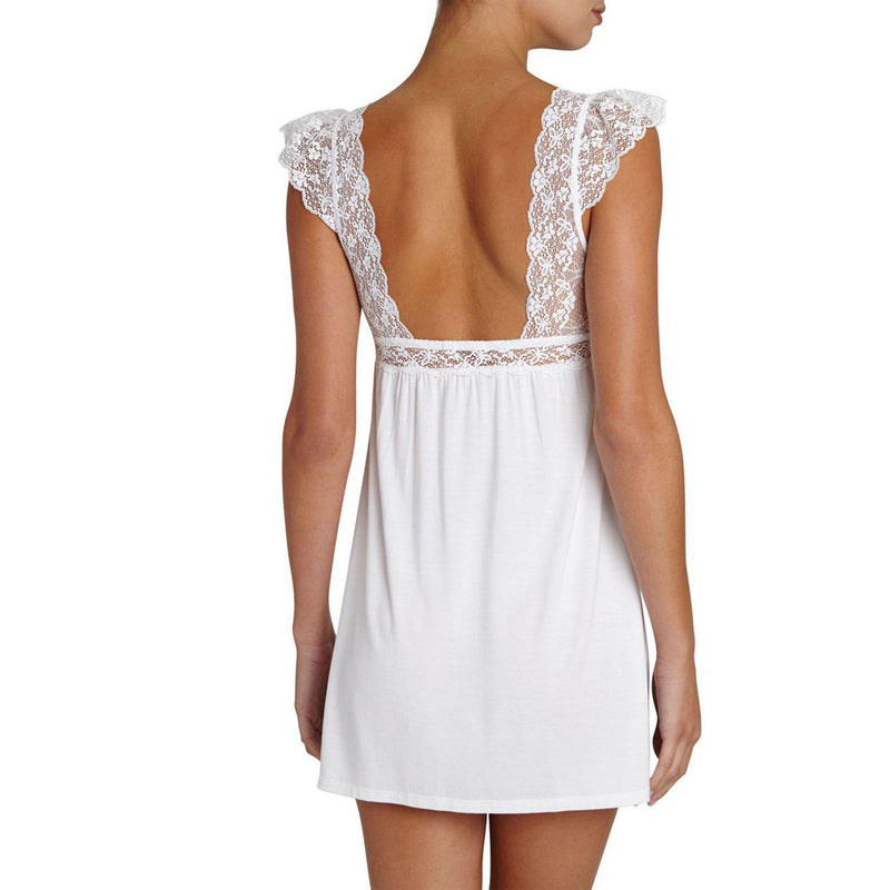 CLOTHING - Kiss The Bride Flutter Chemise White