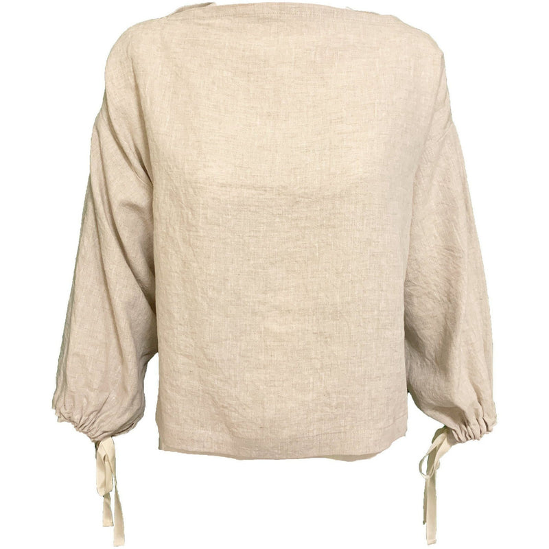 CLOTHING - Lucia Long Sleeve Blouse Sand