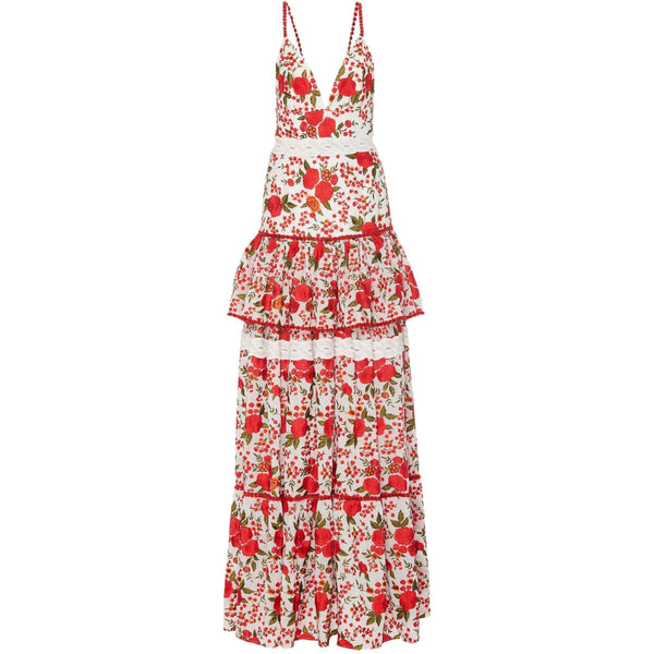 CLOTHING - Naomie Dress Rose Embroidery