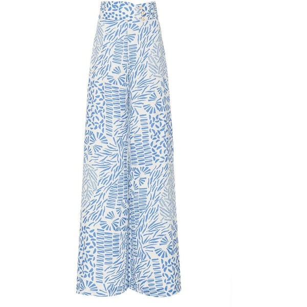 CLOTHING - Neassa Pants Blue Abstract