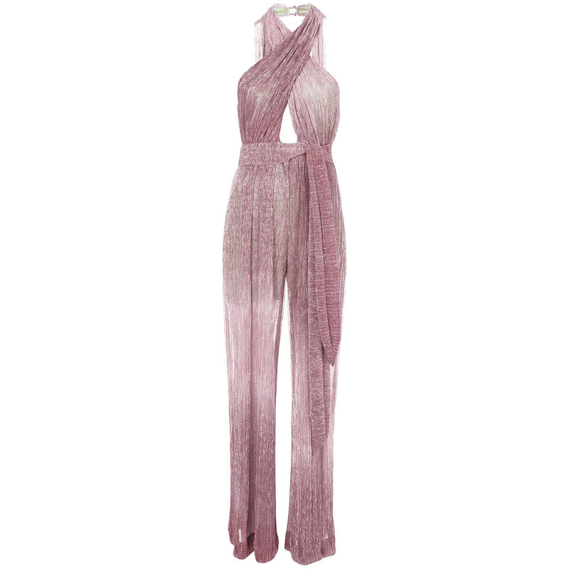 CLOTHING - Ombre Lurex Crossfront Jumpsuit Orchid