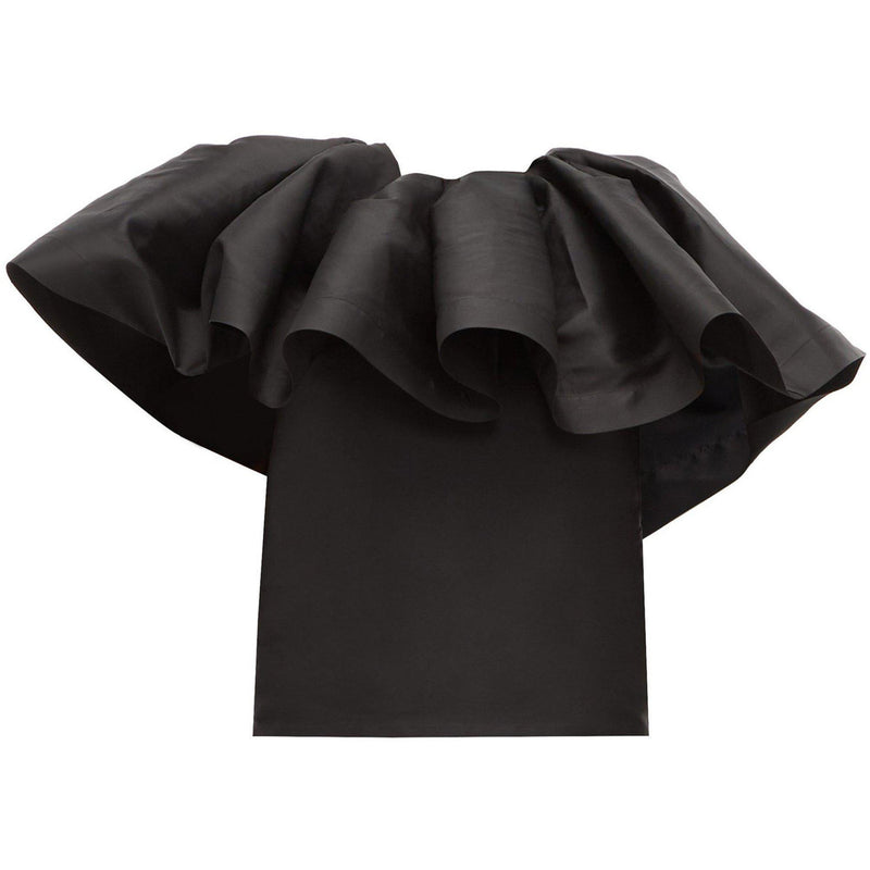 CLOTHING - Pleated Cape Top Black