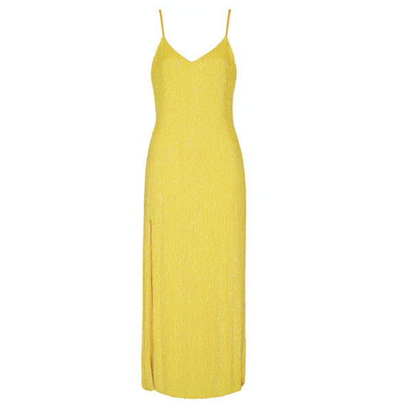 CLOTHING - Rebecca Dress Metallic Yellow