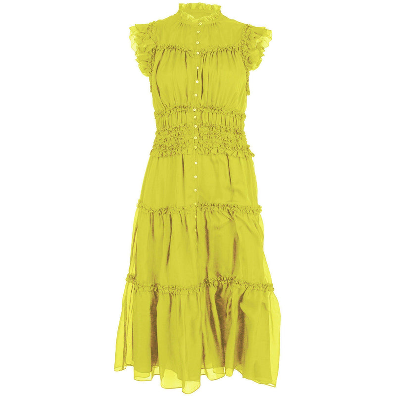 CLOTHING - Rosalind Dress Chartreuse