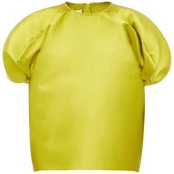 CLOTHING - Round Sleeve Top Lime