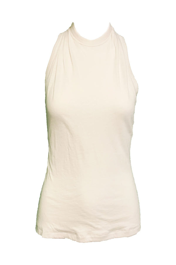 CLOTHING - Sabrina Haltered Zip Tank White