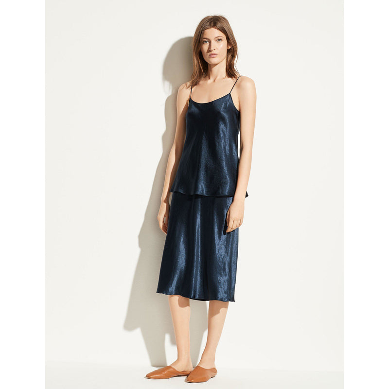 CLOTHING - Satin Cami Coastal Blue