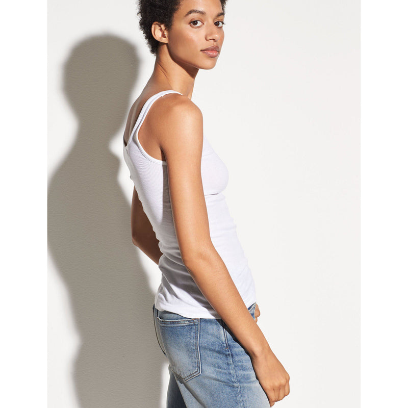 CLOTHING - Scoop Neck Tank White