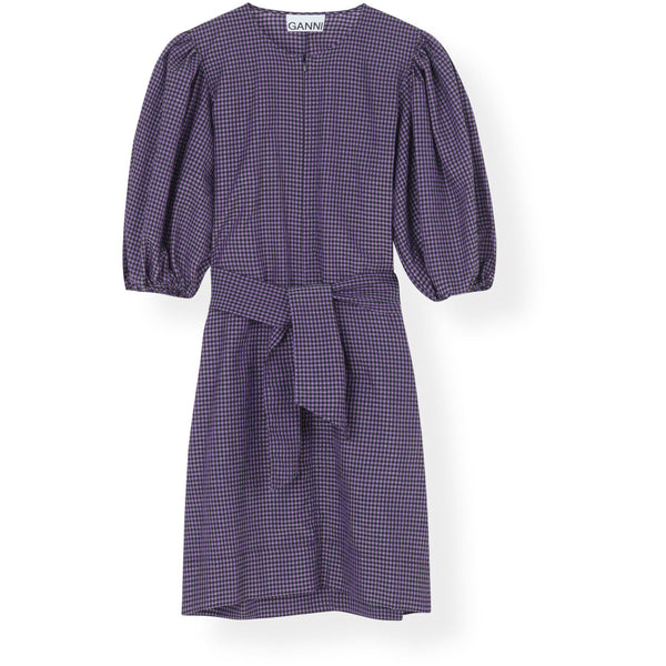 CLOTHING - Seersucker Check Mini Dress Deep Lavender