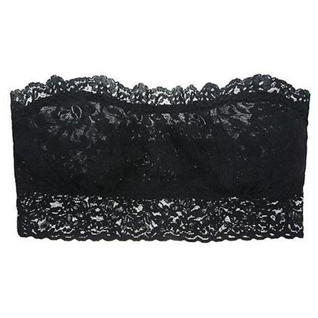 CLOTHING - Signature Lace Bandeau Black