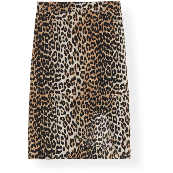 CLOTHING - Silk Mix Skirt Leopard