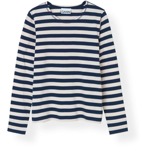 CLOTHING - Striped Cotton Jersey Pullover Blue