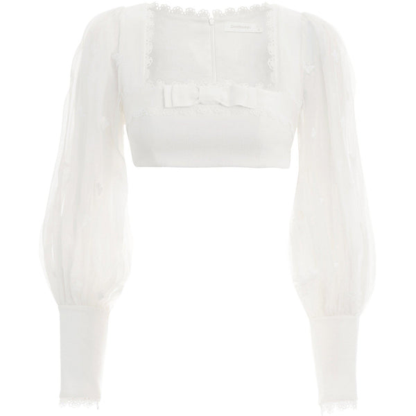 CLOTHING - Super Eight Flutter Bodice Ivory