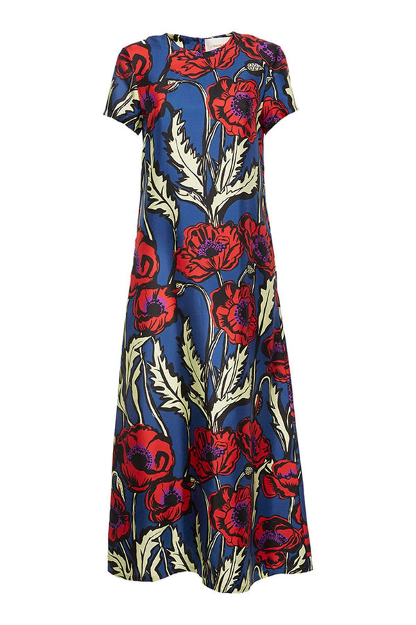 CLOTHING - Swing Dress Silk Big Blooms