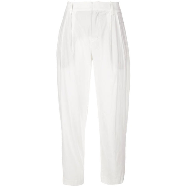 CLOTHING - Tapered High Waist Crop Off White