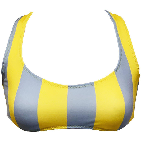 CLOTHING - The Elle Top Yellow Blue