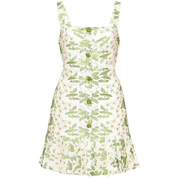 CLOTHING - Tiri Dress Green Embroidery