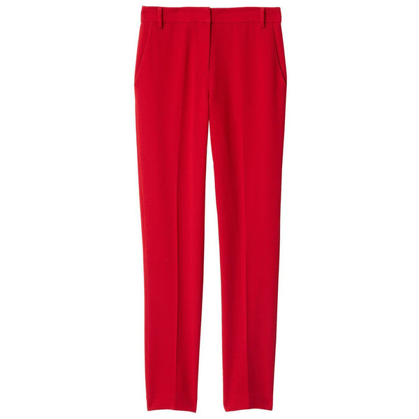 CLOTHING - Triacetate Full Length Beatle Pant Brick Red