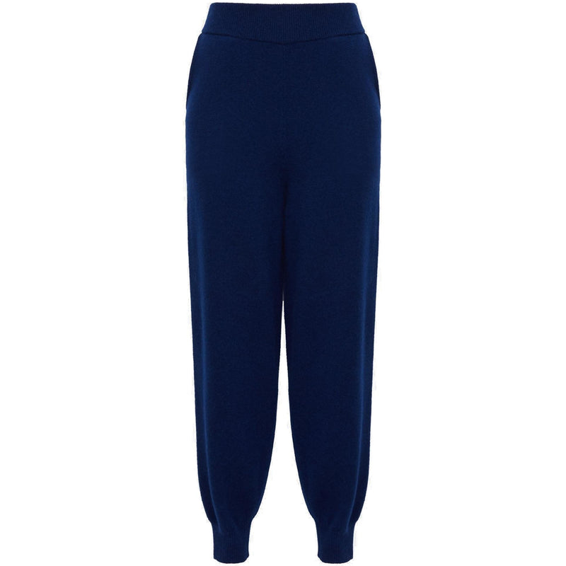 CLOTHING - Wool-Cashmere Relaxed Track Pant Navy