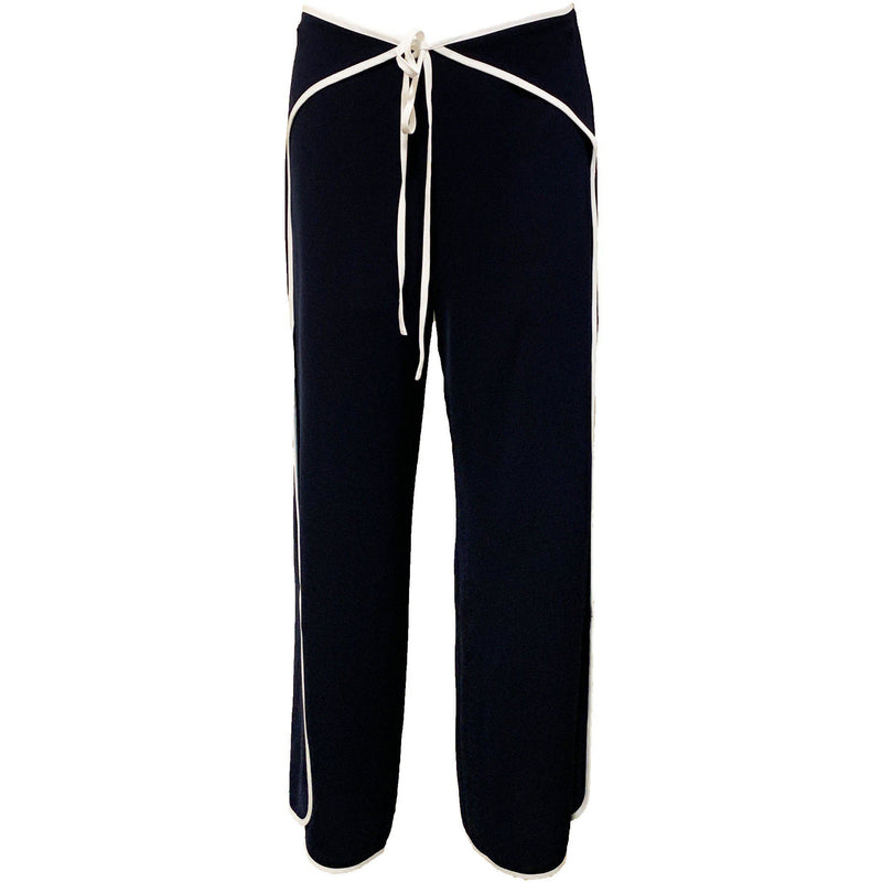 CLOTHING - Wrap Pants Navy