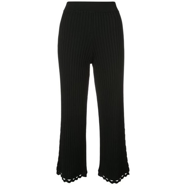 CLOTHING - Zig Zag Trim Cropped Pant