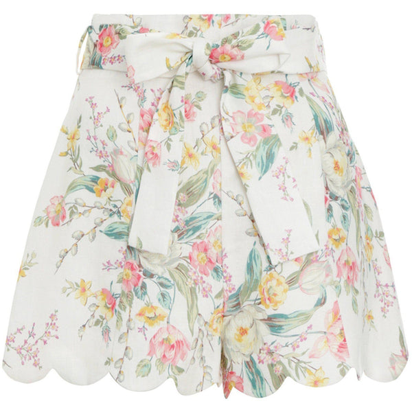 CLOTHING - Zinnia High Waisted Short Ivory Floral