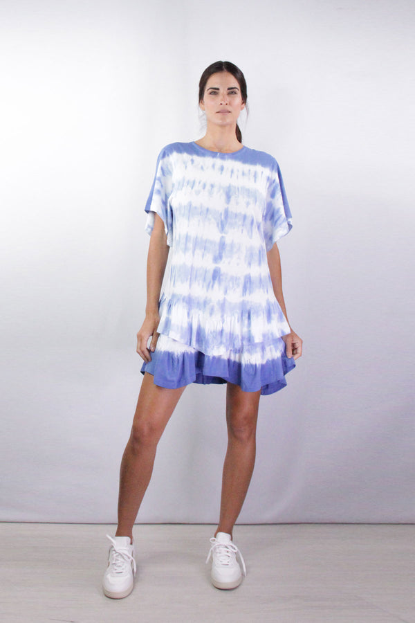 Lois Short Sleeve Drees in Blue