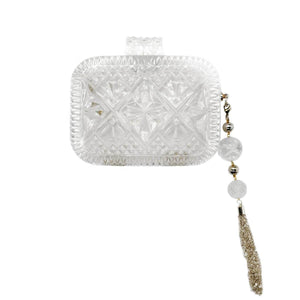 Hand Carved Clutch Clear