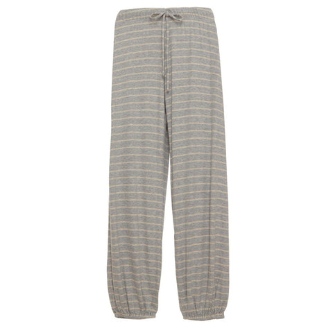 Logan Tied Cropped Pant Grey