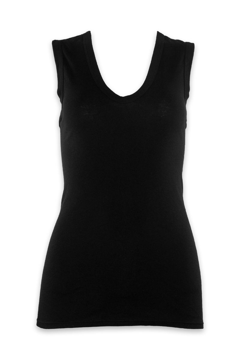 Supima Essential Sleeveless Top in Black