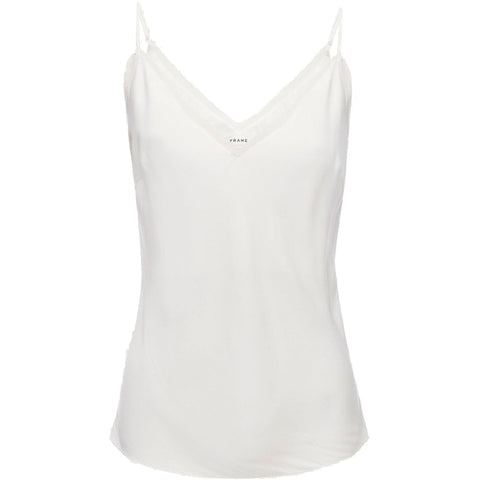 Satin Lounge Tank Off White