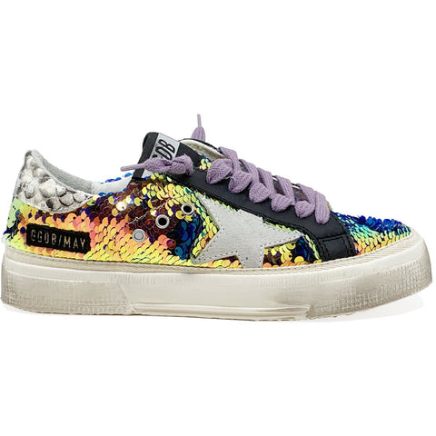 May Iridescent Paillettes Ice Star Sneaker