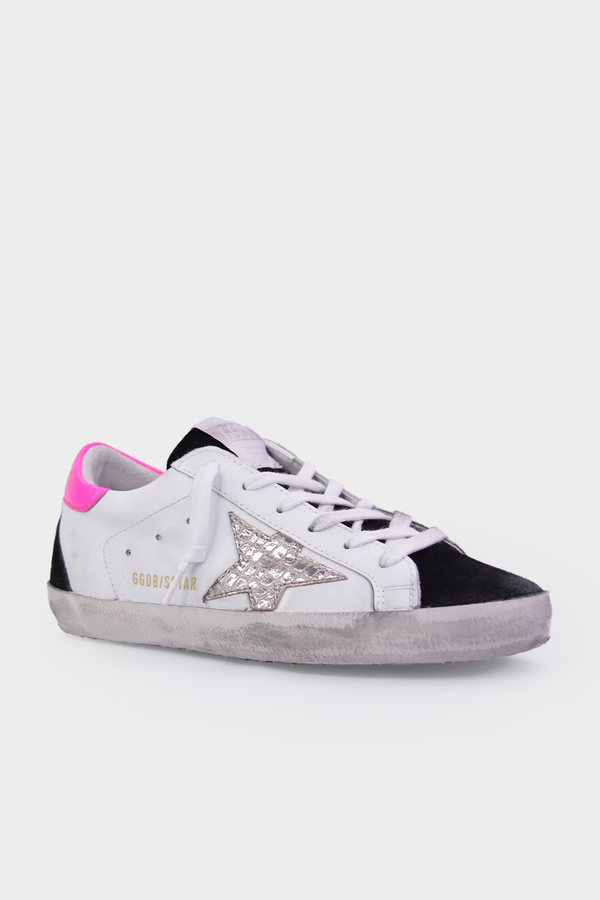 Super-Star Pink Cocco Print Silver Star Sneaker