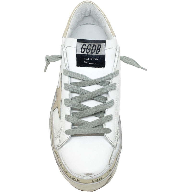 Hi Star White Gold Sparkle Sneaker