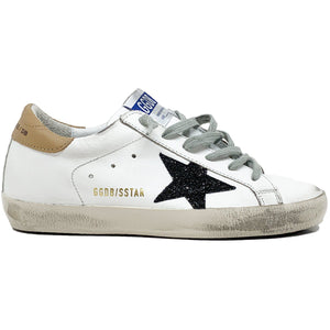 Superstar White Sand Black Glitter Sneaker