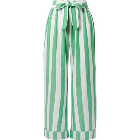 Sasha Pant Green Stripes