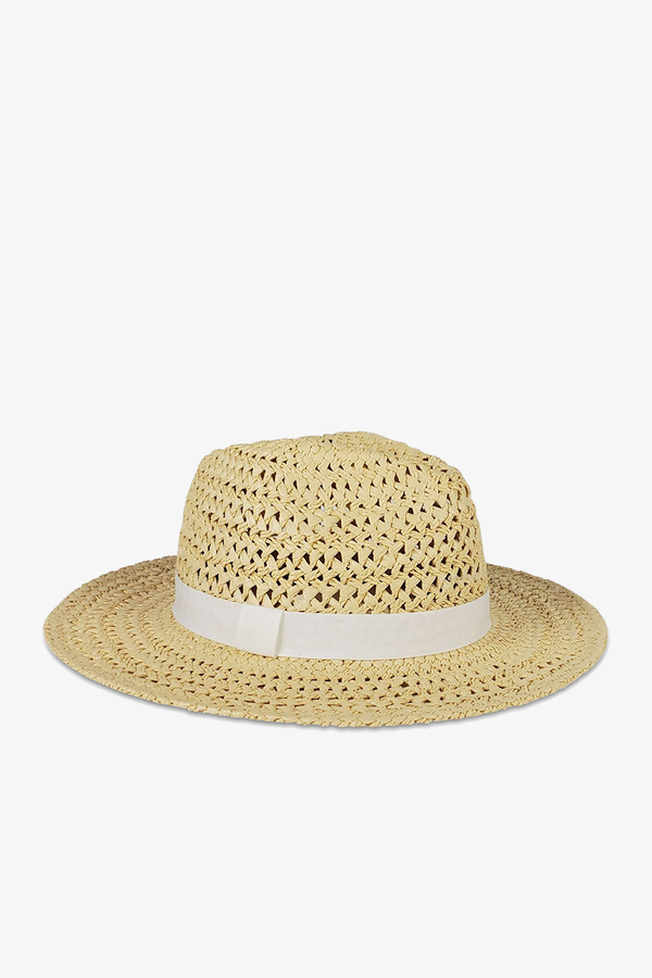 Ava Rancher Hat in Natural/White