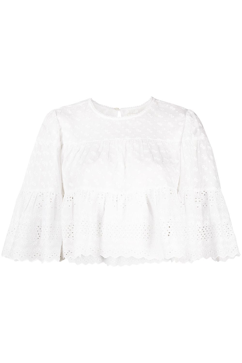 Tevika Top in White