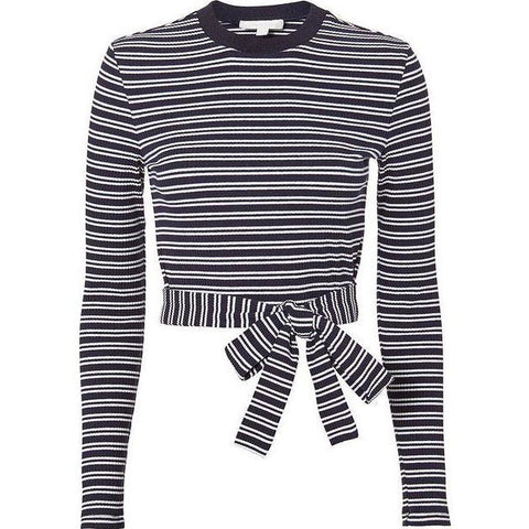Stripe Wrap Tee Top