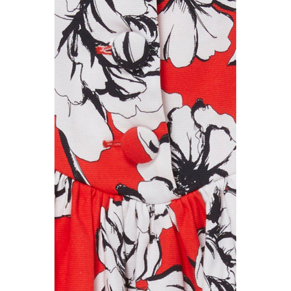Oliver Print Skirt Peony Red
