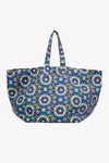 Reversible Tote Bag in Kaleidoscope Bluette