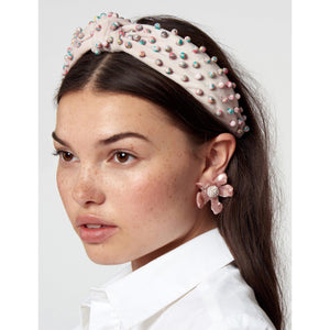 Beaded Headband Pastel Confetti