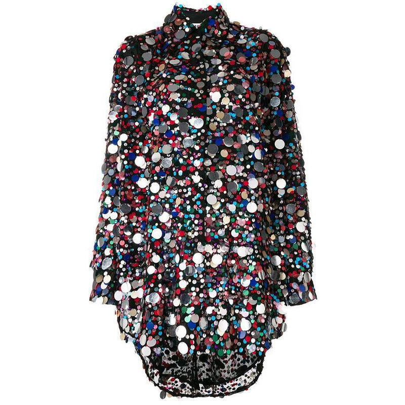 Sequin Shirt Dress-MSGM-shop-olivia.com