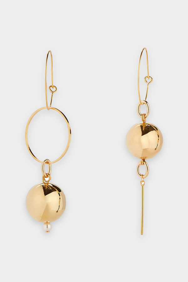 Solar Mini Hoop Earrings in Gold