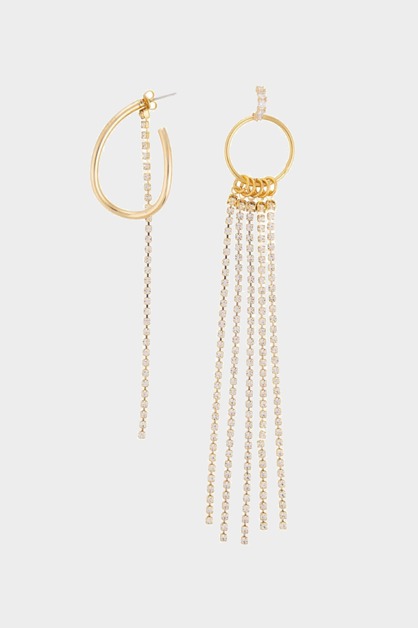 Splash Mismatched Pair Earrings in Gold