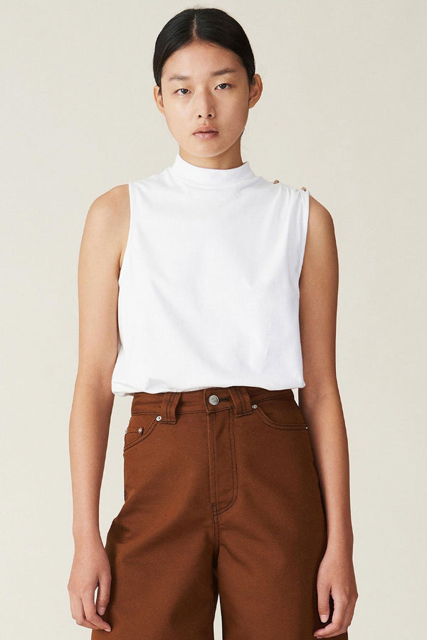 PRE-ORDERS - Basic Cotton Jersey Top White