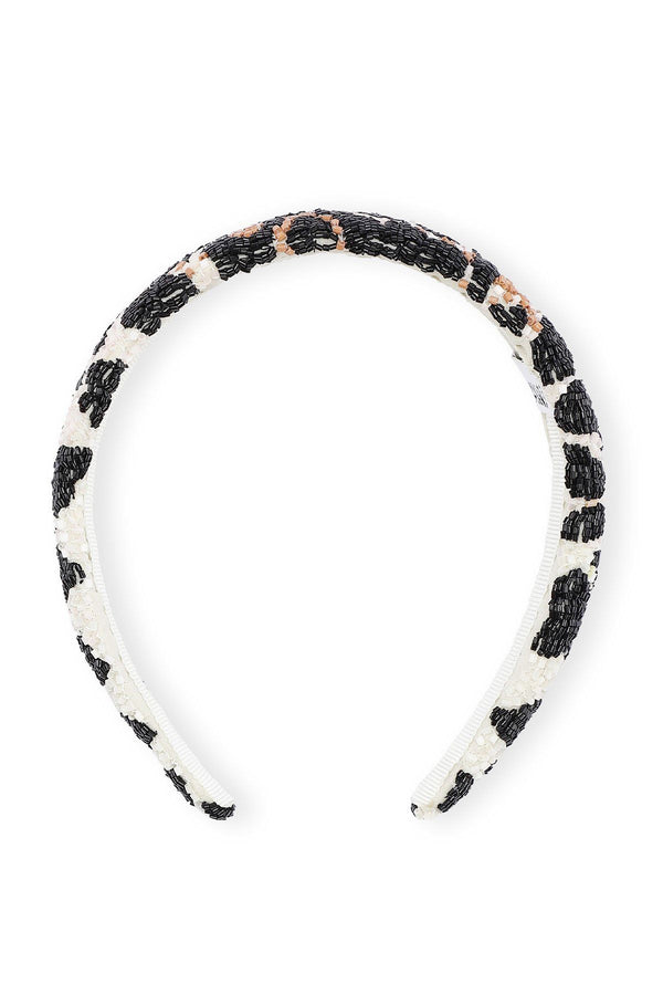PRE-ORDERS - Hand Beaded Accessories Headband Padded Leopard