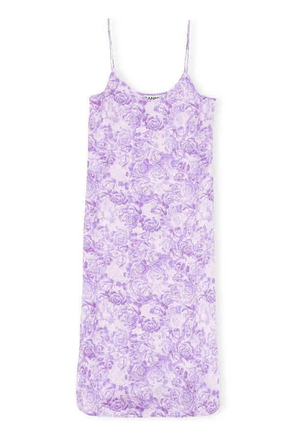PRE-ORDERS - Heavy Satin Slip Dress Violet Tulip
