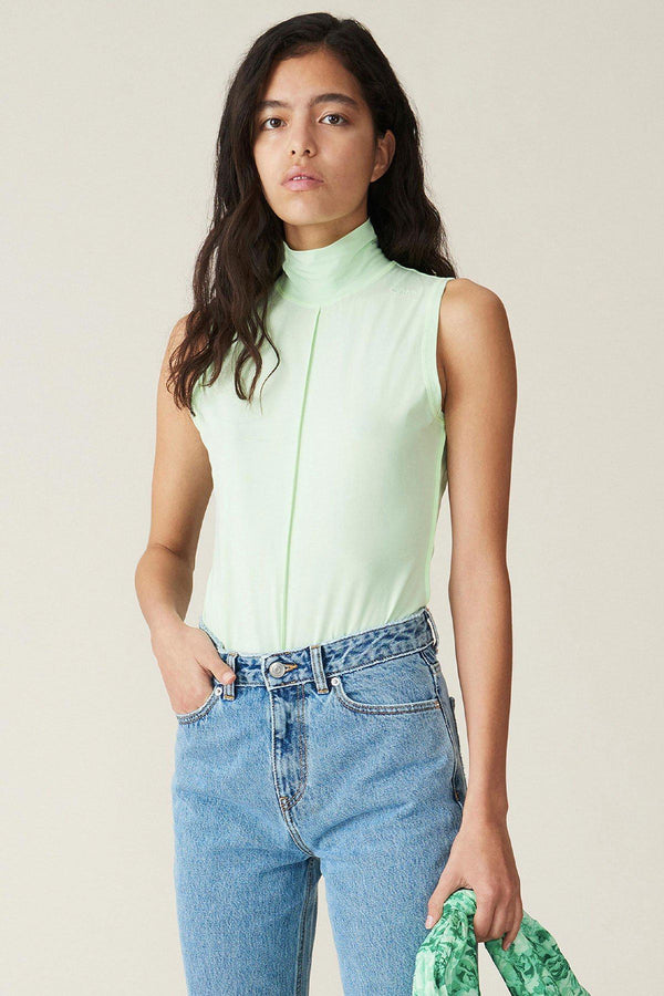 PRE-ORDERS - Light Stretch Jersey Top Patina Green